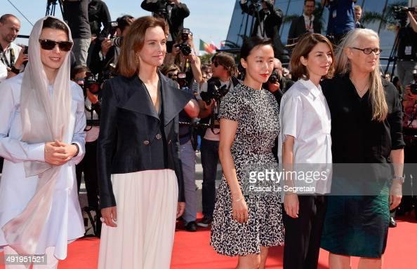 Jury members Leila Hata Carole Bouquet Doyeon Jeon jury president Jane Campion and jury member Sofia Coppola attend the 'La Meraviglie' premiere...