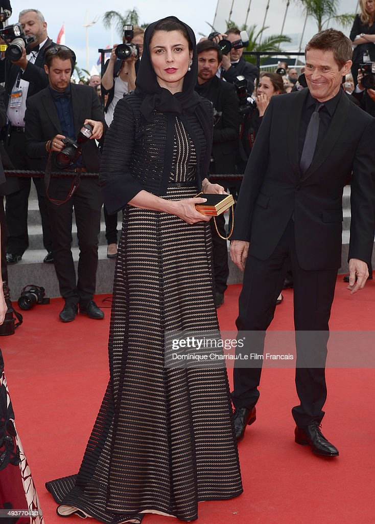 Jury Members Leila Hatami and Willem Dafoe attend the red carpet for the Palme D'Or winners at the 67th Annual Cannes Film Festival on May 25, 2014 in Cannes France.