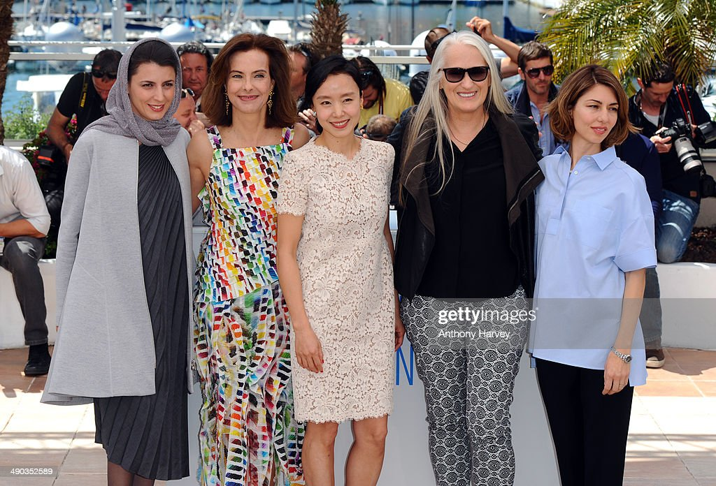 Jury members <a gi-track='captionPersonalityLinkClicked' href=/galleries/search?phrase=Leila+Hatami&family=editorial&specificpeople=7082232 ng-click='$event.stopPropagation()'>Leila Hatami</a>, <a gi-track='captionPersonalityLinkClicked' href=/galleries/search?phrase=Carole+Bouquet&family=editorial&specificpeople=208685 ng-click='$event.stopPropagation()'>Carole Bouquet</a>, <a gi-track='captionPersonalityLinkClicked' href=/galleries/search?phrase=Do-yeon+Jeon&family=editorial&specificpeople=4299903 ng-click='$event.stopPropagation()'>Do-yeon Jeon</a>, jury president <a gi-track='captionPersonalityLinkClicked' href=/galleries/search?phrase=Jane+Campion&family=editorial&specificpeople=616530 ng-click='$event.stopPropagation()'>Jane Campion</a> and jury member <a gi-track='captionPersonalityLinkClicked' href=/galleries/search?phrase=Sofia+Coppola&family=editorial&specificpeople=202230 ng-click='$event.stopPropagation()'>Sofia Coppola</a> attend the Jury photocall at the 67th Annual Cannes Film Festival on May 14, 2014 in Cannes, France.