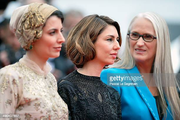 Jury members Leila Hatami Sofia Coppola and Jury President Jane Campion attend the Opening Ceremony and the 'Grace of Monaco' premiere during the...