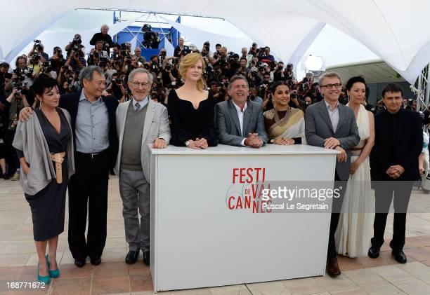 Jury members Lynne Ramsay Ang Lee Steven Spielberg Nicole Kidman Daniel Auteuil Vidya Balan Christoph Waltz Naomi Kawase and Cristian Mungiu attend...