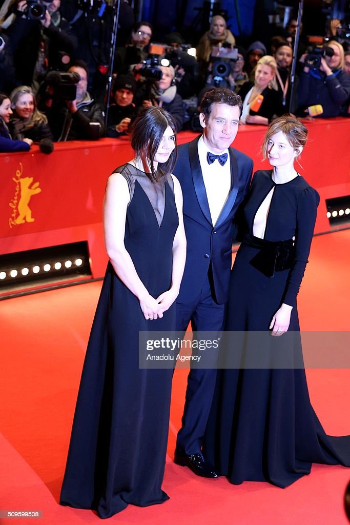 Jury members Malgorzata Szumowska (L), Clive Owen (C) and Alba Rohrwacher (R) attend the 'Hail, Caesar!' premiere during the 66th Berlinale International Film Festival Berlin at Berlinale Palace in Berlin, Germany on February 11, 2016.