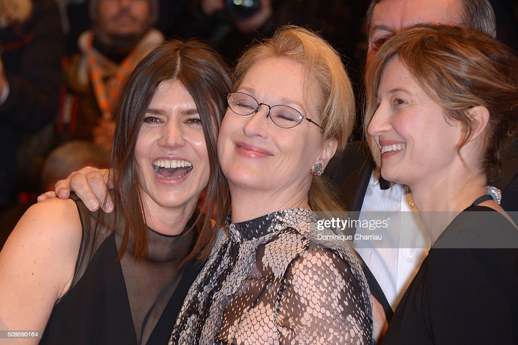 Jury members Malgorzata Szumowska, <a gi-track='captionPersonalityLinkClicked' href=/galleries/search?phrase=Meryl+Streep&family=editorial&specificpeople=171097 ng-click='$event.stopPropagation()'>Meryl Streep</a> and <a gi-track='captionPersonalityLinkClicked' href=/galleries/search?phrase=Alba+Rohrwacher&family=editorial&specificpeople=4296508 ng-click='$event.stopPropagation()'>Alba Rohrwacher</a> attend the 'Hail, Caesar!' premiere during the 66th Berlinale International Film Festival Berlin at Berlinale Palace on February 11, 2016 in Berlin, Germany.