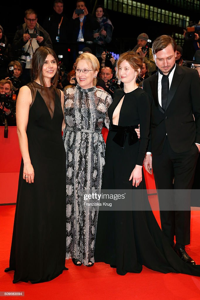 Jury members Malgorzata Szumowska, <a gi-track='captionPersonalityLinkClicked' href=/galleries/search?phrase=Meryl+Streep&family=editorial&specificpeople=171097 ng-click='$event.stopPropagation()'>Meryl Streep</a>, <a gi-track='captionPersonalityLinkClicked' href=/galleries/search?phrase=Alba+Rohrwacher&family=editorial&specificpeople=4296508 ng-click='$event.stopPropagation()'>Alba Rohrwacher</a> and <a gi-track='captionPersonalityLinkClicked' href=/galleries/search?phrase=Lars+Eidinger&family=editorial&specificpeople=2984804 ng-click='$event.stopPropagation()'>Lars Eidinger</a> attend the 'Hail, Caesar!' premiere during the 66th Berlinale International Film Festival Berlin at Berlinale Palace on February 11, 2016 in Berlin, Germany.