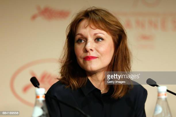 Jury members Maren Ade attends the Jury press conference during the 70th annual Cannes Film Festival at Palais des Festivals on May 17 2017 in Cannes...