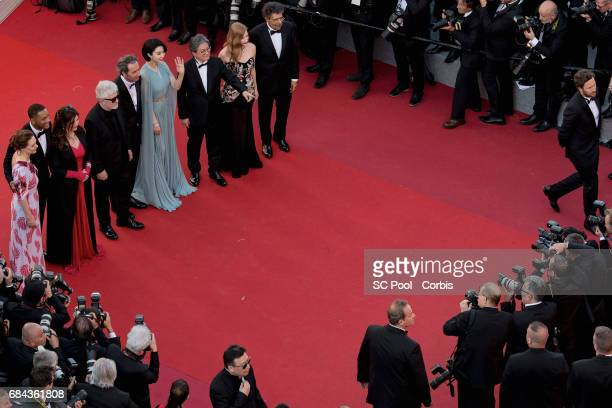 Jury members Maren Ade Will Smith Agnes Jaoui President of the jury Pedro Almodovar Paolo Sorrentino Fan Bingbing Park Chanwook Jessica Chastain and...