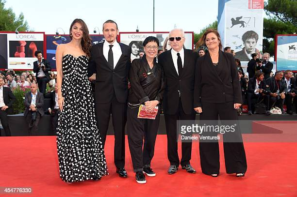 Jury members Moran Atias Roberto Minervini Jury President Ann Hui David Chase and Pernilla August attend the Closing Ceremony during the 71st Venice...