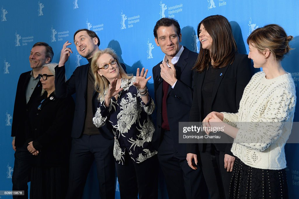 Jury members Nick James, Brigitte Lacombe, Lars Eidinger, International Jury President Meryl Streep, jury members Clive Owen, Malgorzata Szumowska and Alba Rohrwacher attend the International Jury photo call during the 66th Berlinale International Film Festival Berlin at Grand Hyatt Hotel on February 11, 2016 in Berlin, Germany.