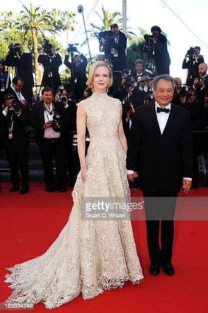 Jury members Nicole Kidman and Ang Lee attend the 'Nebraska' premiere during The 66th Annual Cannes Film Festival at the Palais des Festival on May...