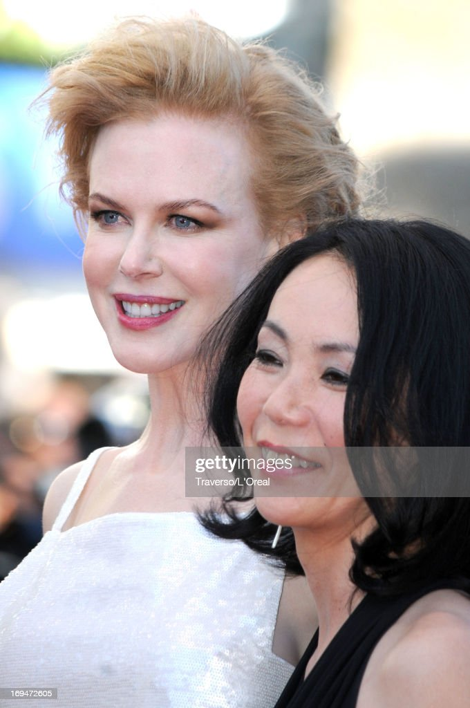 Jury members <a gi-track='captionPersonalityLinkClicked' href=/galleries/search?phrase=Nicole+Kidman&family=editorial&specificpeople=156404 ng-click='$event.stopPropagation()'>Nicole Kidman</a> and <a gi-track='captionPersonalityLinkClicked' href=/galleries/search?phrase=Naomi+Kawase&family=editorial&specificpeople=3267953 ng-click='$event.stopPropagation()'>Naomi Kawase</a> arrive at 'Venus In Fur' Premiere during the 66th Annual Cannes Film Festival at Grand Theatre Lumiere on May 25, 2013 in Cannes, France.