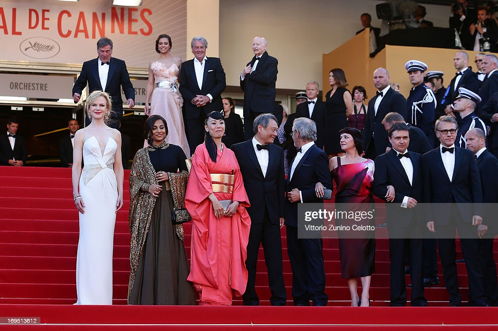 Jury members Nicole Kidman Vidya Balan Naomi Kawase Ang Lee jury president Steven Spielberg and jury members Lynne Ramsay Cristian Mungiu and...