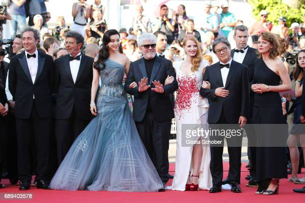 Jury members Paolo Sorrentino Gabriel Yared Fan Bingbing President of the jury Pedro Almodovar jury members Jessica Chastain Paolo Sorrentino and...