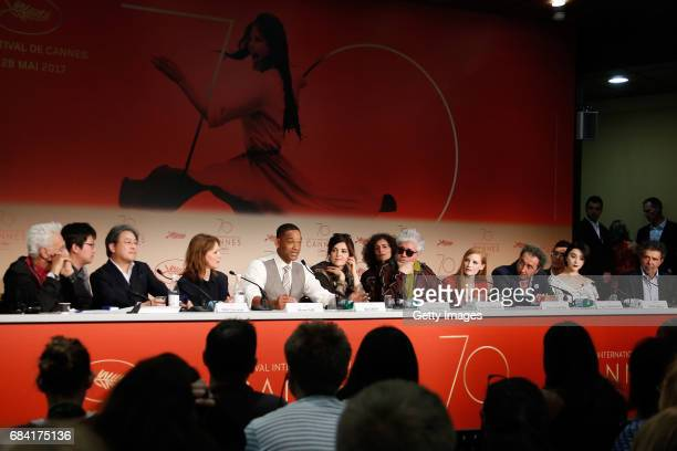 Jury members Park Chanwook Maren Ade Will Smith Agnes Jaoui President of the jury Pedro Almodovar and jury members Jessica Chastain Paolo Sorrentino...
