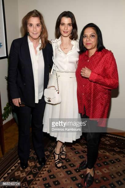 Jury members Paula Weinstein actress Rachel Weisz and Mira Nair attend Through Her Lens The Tribeca Chanel Women's Filmmaker Program Celebration at...