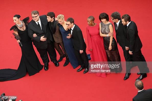 Jury members Rossy de Palma Guillermo del Toro Xavier Dolan Sienna Miller Ethan Coen Rokia Traore Sophie Marceau Joel Coen and Jake Gyllenhaal attend...