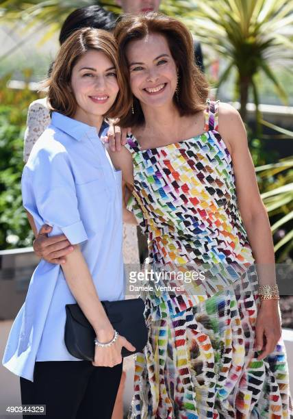 Jury members Sofia Coppola and Carole Bouquet attend the Jury photocall during the 67th Annual Cannes Film Festival on May 14 2014 in Cannes France
