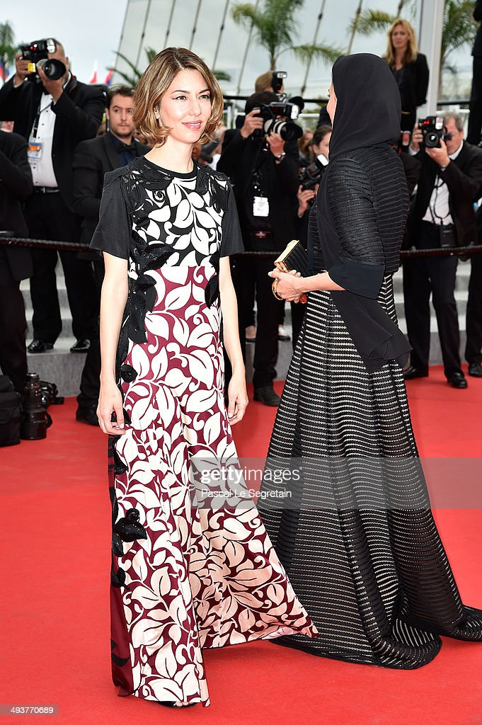 Jury members Sofia Coppola (L) and Leila Hatami attend the red carpet for the Palme D'Or winners at the 67th Annual Cannes Film Festival on May 25, 2014 in Cannes, France.