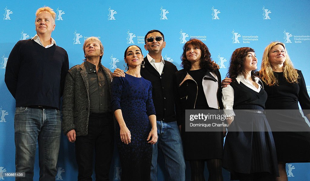 Jury members <a gi-track='captionPersonalityLinkClicked' href=/galleries/search?phrase=Tim+Robbins&family=editorial&specificpeople=182439 ng-click='$event.stopPropagation()'>Tim Robbins</a>, Andreas Dresen, <a gi-track='captionPersonalityLinkClicked' href=/galleries/search?phrase=Shirin+Neshat&family=editorial&specificpeople=3200877 ng-click='$event.stopPropagation()'>Shirin Neshat</a>, Jury President Wong Kar Wai and Jury members <a gi-track='captionPersonalityLinkClicked' href=/galleries/search?phrase=Susanne+Bier&family=editorial&specificpeople=240199 ng-click='$event.stopPropagation()'>Susanne Bier</a>, Athina Rachel Tsangari and <a gi-track='captionPersonalityLinkClicked' href=/galleries/search?phrase=Ellen+Kuras&family=editorial&specificpeople=243051 ng-click='$event.stopPropagation()'>Ellen Kuras</a> attend the International Jury Photocall during the 63rd Berlinale International Film Festival at the Grand Hyatt on February 7, 2013 in Berlin, Germany.