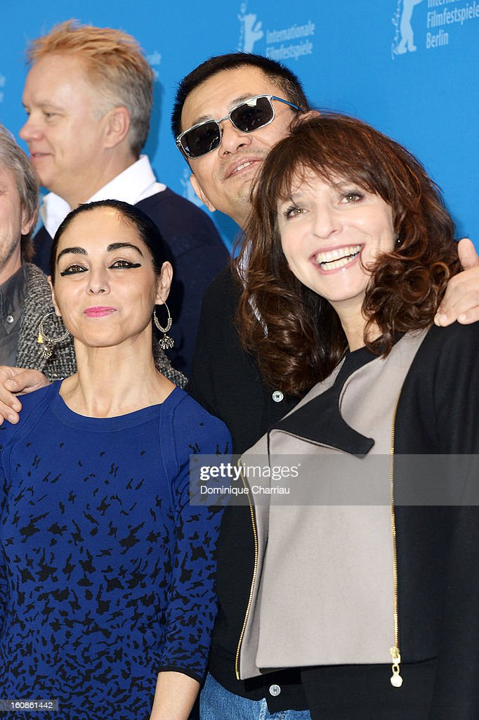 Jury members <a gi-track='captionPersonalityLinkClicked' href=/galleries/search?phrase=Tim+Robbins&family=editorial&specificpeople=182439 ng-click='$event.stopPropagation()'>Tim Robbins</a>, <a gi-track='captionPersonalityLinkClicked' href=/galleries/search?phrase=Shirin+Neshat&family=editorial&specificpeople=3200877 ng-click='$event.stopPropagation()'>Shirin Neshat</a>, Jury President Wong Kar Wai and <a gi-track='captionPersonalityLinkClicked' href=/galleries/search?phrase=Susanne+Bier&family=editorial&specificpeople=240199 ng-click='$event.stopPropagation()'>Susanne Bier</a> attend the International Jury Photocall during the 63rd Berlinale International Film Festival at the Grand Hyatt on February 7, 2013 in Berlin, Germany.