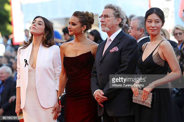 Jury members Valentina Lodovini Nelly Karim Robert Guediguian and Moon Sori attend the opening ceremony and premiere of 'La La Land' during the 73rd...