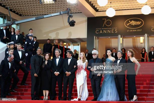 Jury members Will Smith Agnes Jaoui Paolo Sorrentino Gabriel Yared President of the jury Pedro Almodovar and jury members Fan Bingbing Park Chanwook...
