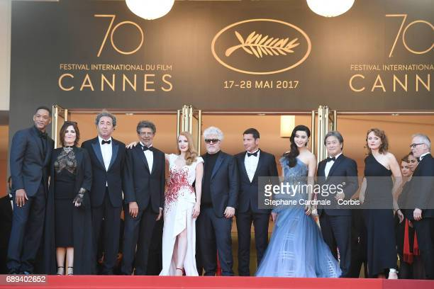 Jury members Will Smith Agnes Jaoui Paolo Sorrentino Gabriel Yared Jessica Chastain President of the jury Pedro Almodovar May of Cannes David Lisnard...