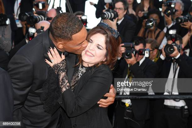 Jury members Will Smith and Agnes Jaoui attend the Closing Ceremony during the 70th annual Cannes Film Festival at Palais des Festivals on May 28...