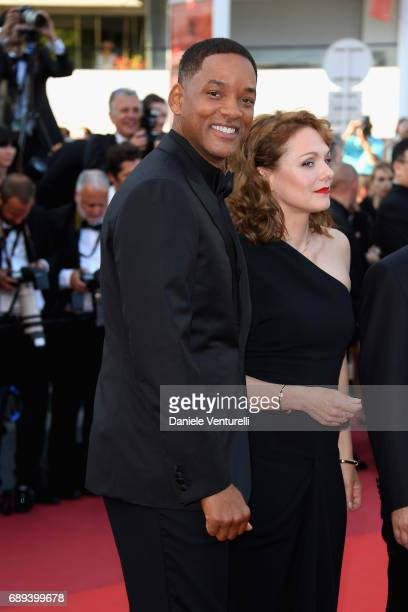 Jury members Will Smith and Maren Ade attend the Closing Ceremony during the 70th annual Cannes Film Festival at Palais des Festivals on May 28 2017...