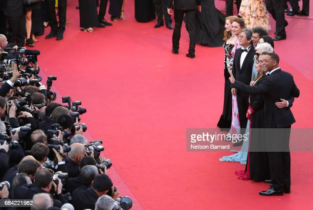 Jury members Will Smith Paolo Sorrentino Agnes Jaoui President of the jury Pedro Almodovar and jury members Fan Bingbing Gabriel Yared Park Chanwook...