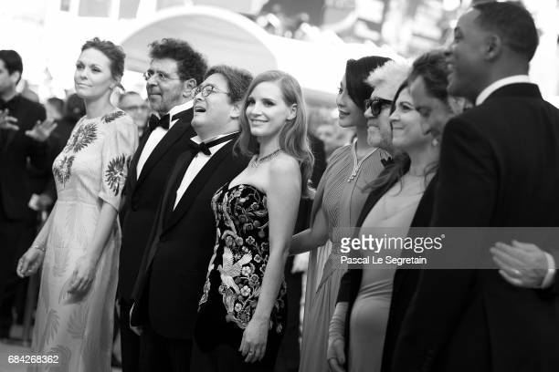 Jury members Will Smith Paolo Sorrentino and Agnes Jaoui President of the jury Pedro Almodovar and jury members Fan Bingbing Jessica Chastain Park...