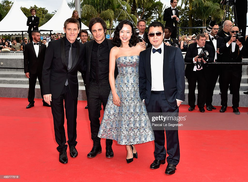 Jury members Willem Dafoe, Gael Garcia Bernal, Do-yeon Jeon and Zhangke Jia attend the red carpet for the Palme D'Or winners at the 67th Annual Cannes Film Festival on May 25, 2014 in Cannes, France.