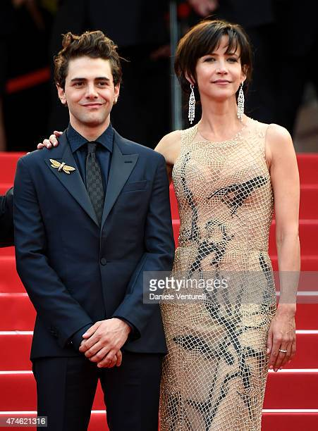 Jury members Xavier Dolan and Sophie Marceau attend the closing ceremony and 'Le Glace Et Le Ciel' Premiere during the 68th annual Cannes Film...