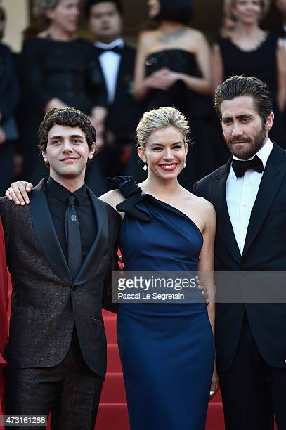Jury members Xavier Dolan Sienna Miller and Jake Gyllenhaal attends the opening ceremony and premiere of 'La Tete Haute' during the 68th annual...