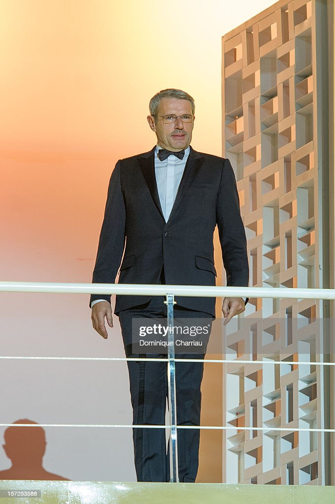 Jury menbers of the 12th Marrakech International Film Festival <a gi-track='captionPersonalityLinkClicked' href=/galleries/search?phrase=Lambert+Wilson&family=editorial&specificpeople=626933 ng-click='$event.stopPropagation()'>Lambert Wilson</a> arrives for the opening ceremony of the 12th Marrakesh International Film Festival on November 30, 2012 in Marrakech, Morocco.