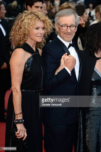 Jury President and Director Steven Spielberg and his wife Kate Capshaw attend the Premiere of 'Inside Llewyn Davis' during the 66th Annual Cannes...