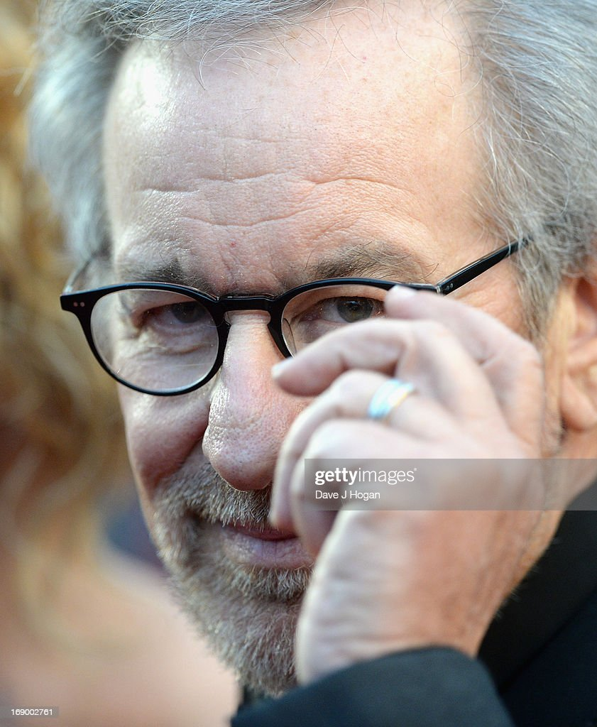 Jury President and Director Steven Spielberg attends 'Jimmy P. (Psychotherapy Of A Plains Indian)' Premiere during the 66th Annual Cannes Film Festival at Grand Theatre Lumiere on May 18, 2013 in Cannes, France.