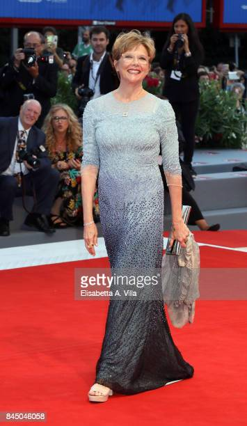 Jury president Annette Bening arrives at the Award Ceremony of the 74th Venice Film Festival at Sala Grande on September 9 2017 in Venice Italy