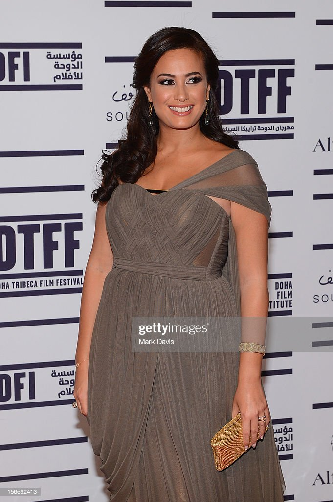 Jury President Hend Sabry attends the opening night ceremony and gala screening of 'The Reluctant Fundamentalist' during the 2012 Doha Tribeca Film Festival at Al Mirqab Hotel on November 17, 2012 in Doha, Qatar.