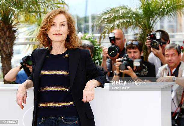 Jury President Isabelle Huppert attends the Jury Presentation Photocall at the Palais des Festivals during the 62nd International Cannes Film...