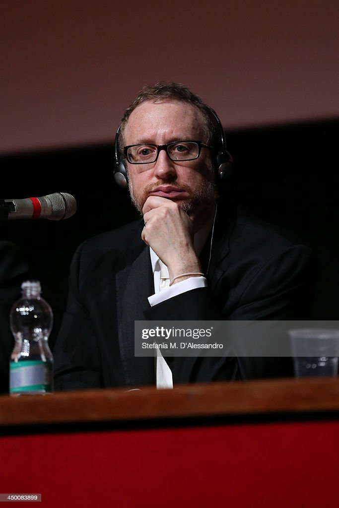 Jury President <a gi-track='captionPersonalityLinkClicked' href=/galleries/search?phrase=James+Gray&family=editorial&specificpeople=2479723 ng-click='$event.stopPropagation()'>James Gray</a> attends the Award Winners Press Conference during the 8th Rome Film Festival at the Auditorium Parco Della Musica on November 16, 2013 in Rome, Italy.