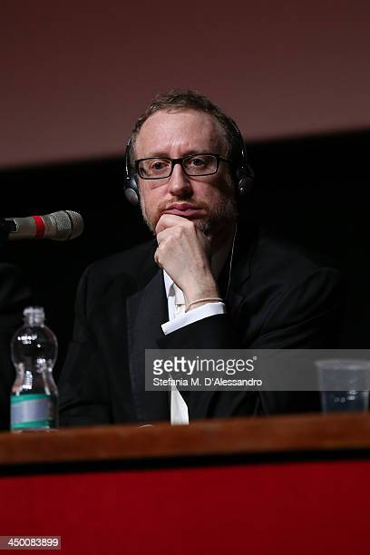 Jury President James Gray attends the Award Winners Press Conference during the 8th Rome Film Festival at the Auditorium Parco Della Musica on...