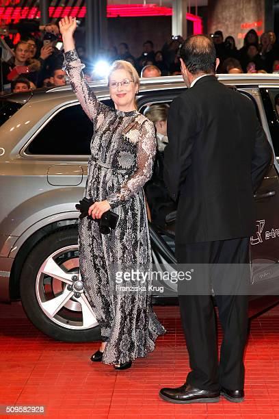 Jury president Meryl Streep wearing Prada attends the 'Hail Caesar' premiere during the 66th Berlinale International Film Festival Berlin at...