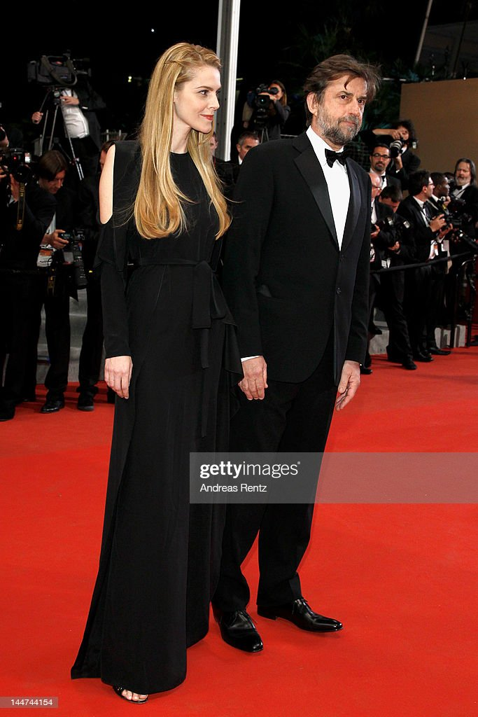 Jury president Nanni Moretti and Chiara Palmieri attend the 'Reality' premiere during the 65th Annual Cannes Film Festival at Palais des Festivals on May 18, 2012 in Cannes, France.