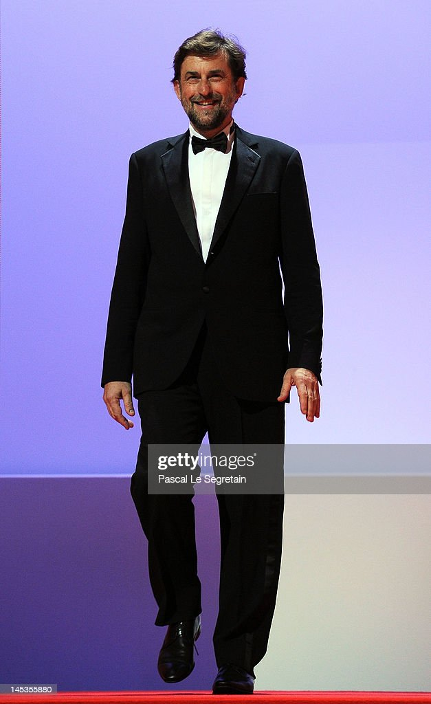 Jury President Nanni Moretti appears onstage at the Closing Ceremony during the 65th Annual Cannes Film Festival on May 27, 2012 in Cannes, France.