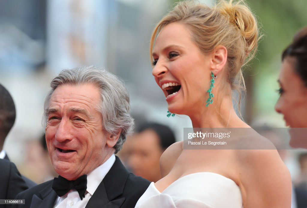 Jury President <a gi-track='captionPersonalityLinkClicked' href=/galleries/search?phrase=Robert+De+Niro&family=editorial&specificpeople=201673 ng-click='$event.stopPropagation()'>Robert De Niro</a> and Jury Member <a gi-track='captionPersonalityLinkClicked' href=/galleries/search?phrase=Uma+Thurman&family=editorial&specificpeople=171973 ng-click='$event.stopPropagation()'>Uma Thurman</a> attend the Opening Ceremony at the Palais des Festivals during the 64th Cannes Film Festival on May 11, 2011 in Cannes, France.