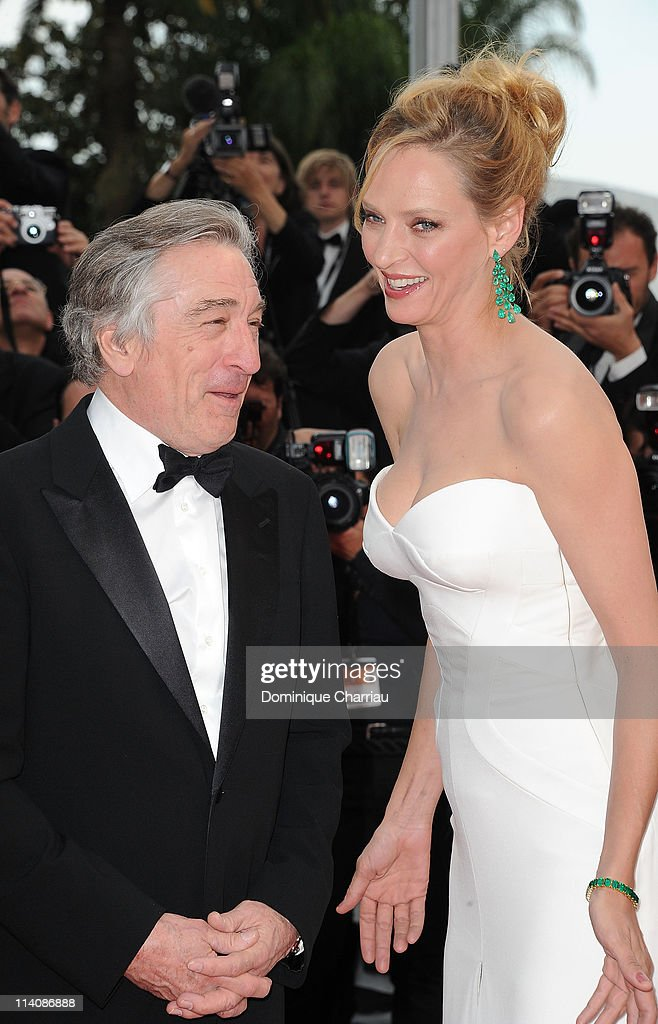 Jury President Robert De Niro and jury member Uma Thurman attend the Opening Ceremony and 'Midnight In Paris' Premiere at the Palais des Festivals during the 64th Cannes Film Festival on May 11, 2011 in Cannes, France.