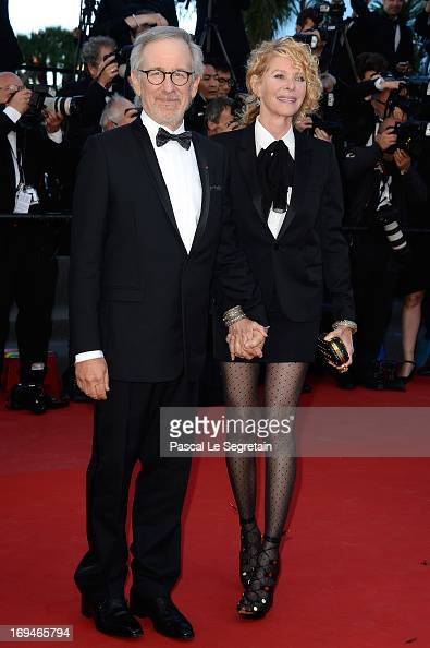 Jury president Steven Spielberg and Kate Capshaw arrive at 'Venus In Fur' Premiere during the 66th Annual Cannes Film Festival at Grand Theatre...