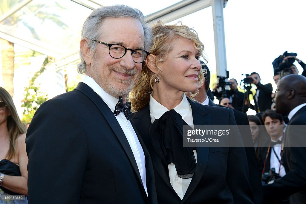Jury president <a gi-track='captionPersonalityLinkClicked' href=/galleries/search?phrase=Steven+Spielberg&family=editorial&specificpeople=202022 ng-click='$event.stopPropagation()'>Steven Spielberg</a> and <a gi-track='captionPersonalityLinkClicked' href=/galleries/search?phrase=Kate+Capshaw&family=editorial&specificpeople=204585 ng-click='$event.stopPropagation()'>Kate Capshaw</a> arrive at 'Venus In Fur' Premiere during the 66th Annual Cannes Film Festival at Grand Theatre Lumiere on May 25, 2013 in Cannes, France.