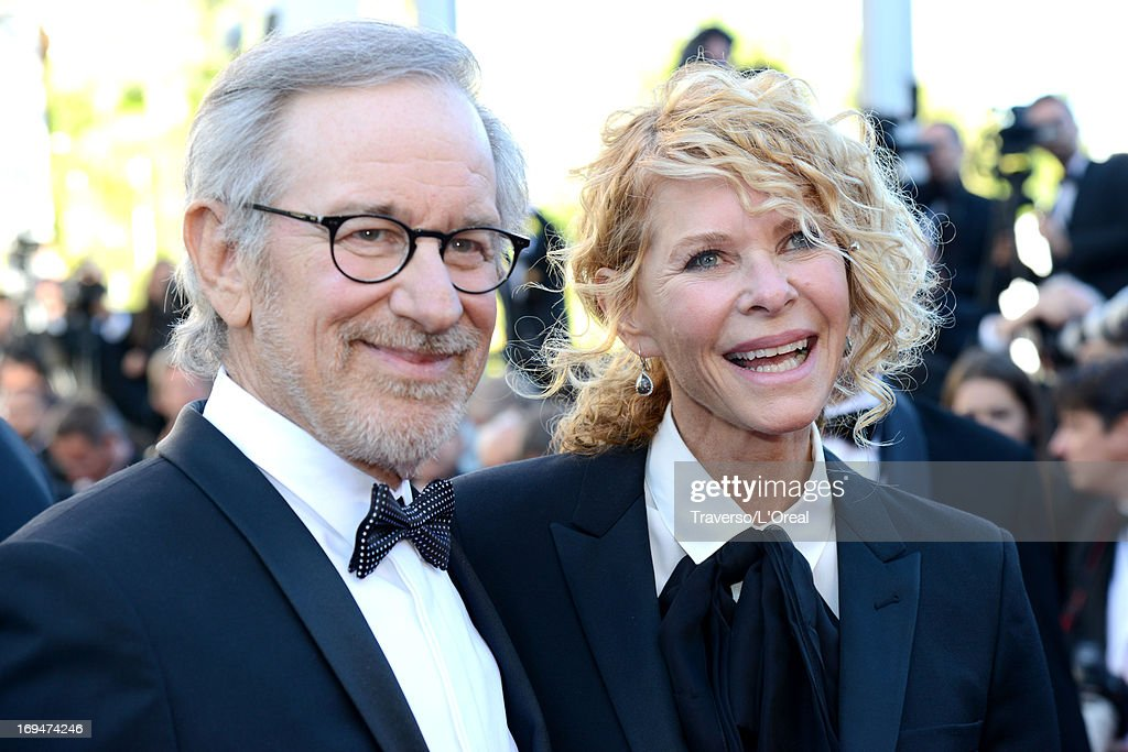 Jury president Steven Spielberg and Kate Capshaw arrive at 'Venus In Fur' Premiere during the 66th Annual Cannes Film Festival at Grand Theatre Lumiere on May 25, 2013 in Cannes, France.