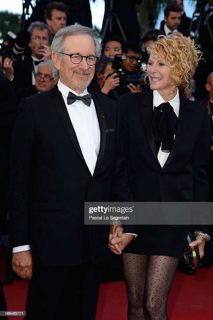 Jury president <a gi-track='captionPersonalityLinkClicked' href=/galleries/search?phrase=Steven+Spielberg&family=editorial&specificpeople=202022 ng-click='$event.stopPropagation()'>Steven Spielberg</a> and <a gi-track='captionPersonalityLinkClicked' href=/galleries/search?phrase=Kate+Capshaw&family=editorial&specificpeople=204585 ng-click='$event.stopPropagation()'>Kate Capshaw</a> attend the 'La Venus A La Fourrure' premiere during The 66th Annual Cannes Film Festival at Theatre Lumiere on May 25, 2013 in Cannes, France.